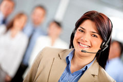 Telemarketing agent Royalty Free Stock Photography