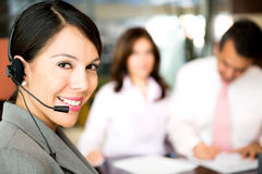 Telemarketing agent Royalty Free Stock Photo
