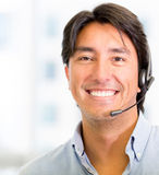 Telemarketing agent Royalty Free Stock Photos