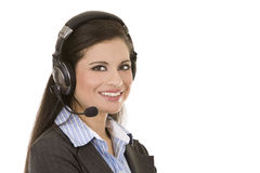 Telemarketing person Stock Image