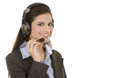 Telemarketing person Royalty Free Stock Photo