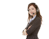 Telemarketing person Royalty Free Stock Photography