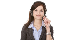 Telemarketing person Royalty Free Stock Image