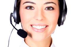 Telemarketing woman Stock Image