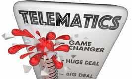 Telematics Connectivity Mobile Technology Thermometer 3d Illustration royalty free illustration