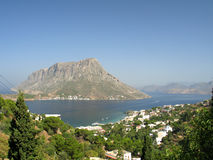 Telendos island. A view of Telendos island (Greece) from Kalymnos island stock photography