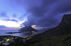 Telendos, Kalymnos Grecia Fotografia Stock