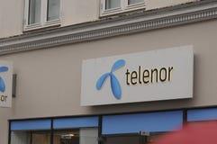 TELENOR INTERNET EN DE TELEFOONdienst PEROVIDER Royalty-vrije Stock Foto