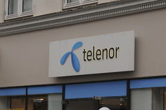 TELENOR INTERNET EN DE TELEFOONdienst PEROVIDER Stock Foto