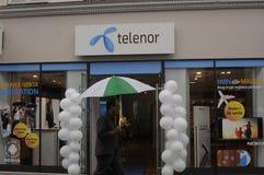 TELENOR-INTERNET OCH TELEFONTJÄNST PEROVIDER Fotografering för Bildbyråer