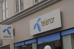 TELENOR-INTERNET OCH TELEFONTJÄNST PEROVIDER Arkivbild
