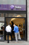 TELENOR AND TELIA CAN NOT MERAGED Stock Image