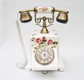 Telephon和背景白色 免版税库存图片