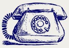 Telephon con la manopola rotativa royalty illustrazione gratis