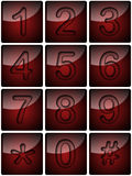 Telephon numbers. Buttons on the telephone device from 0 to 9 Royalty Free Stock Photography