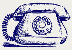Telephon with rotary dial Royalty Free Stock Images