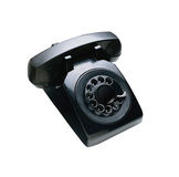 Telephon with rotary dial Stock Photos