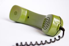 Telephone. Green telephone Stock Photography