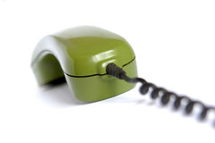 Telephone. Green telephone Stock Photo