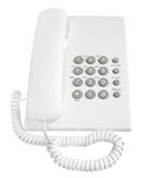 Telephone. On a white background Royalty Free Stock Image