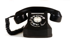 Telephone. Black Antique Telephone circa 1950's Royalty Free Stock Images