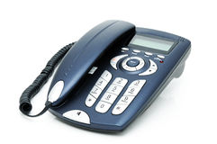 Telephone. Digital telephone with liquid-crystal display and speakerphone Stock Photo
