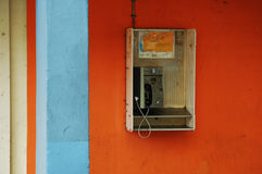 Telephone. A public phone left behind in time by the rapid growth of the mobile phone Stock Image