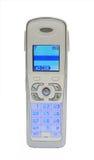 Telephone. DECT telephone isolated on white royalty free stock photos