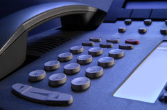 Telephone. With keypad and receiver Royalty Free Stock Photos