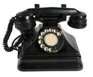 Telephone. Big black ancient telephone machine Stock Image