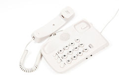 Telephone. Off line ,finished communication but forgot in line phone Royalty Free Stock Images