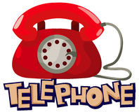 Telephone. Illustration of isolated letter of telephone on white background stock illustration