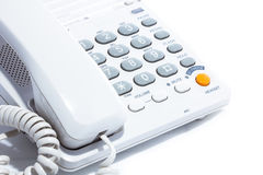Telephone. Close-up of a telephone (on white background