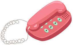 Telephone. Illustration of isolated telephone on white background vector illustration