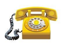 Telephone. Vector icon of the telephone. Retro style Royalty Free Stock Photos
