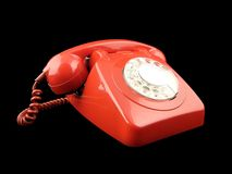 Telephone. Red phone Royalty Free Stock Image