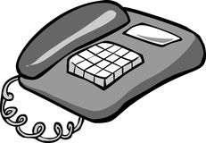 Telephone. Vector illustration of a telephone Stock Photography
