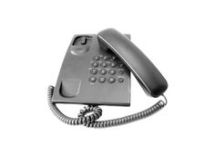 Telephone. Device isolated on white background. (with clipping path Royalty Free Stock Photos