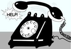 Telephone. Antique black-white telephone illustration Royalty Free Stock Photos