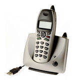 Telephone. With USB connection - talk over internet stock photography