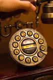 Telephone. With an antique design Royalty Free Stock Image