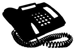 Telephone. Isolated with analog display Stock Image