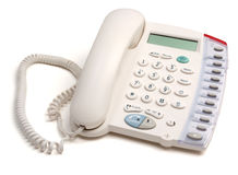 Telephone. Isolated on a white background royalty free stock photography