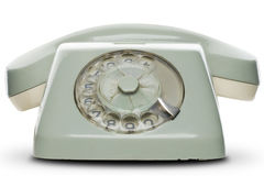 Telephone. An old telephone on white - with clipping path Stock Images