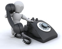 On the telephone Stock Images