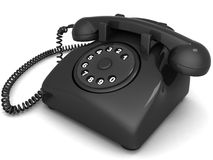 Telephone. Isolated 3D black landlines phone Stock Image