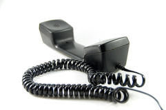 Telephone. Speaker and microphone with cord Royalty Free Stock Photography
