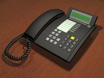 Telephone. 3D office telephone Stock Images
