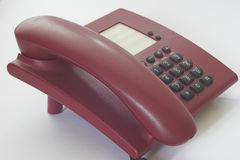 Telephone. With a white background Stock Images