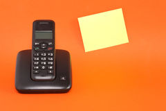 Telephone And Adhesive Note Stock Images